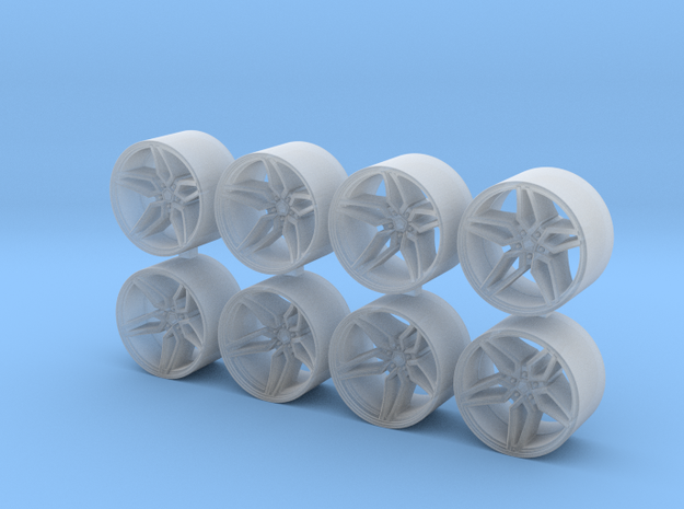 ML X1 8.15x5 1/64 Scale Wheels in Smooth Fine Detail Plastic