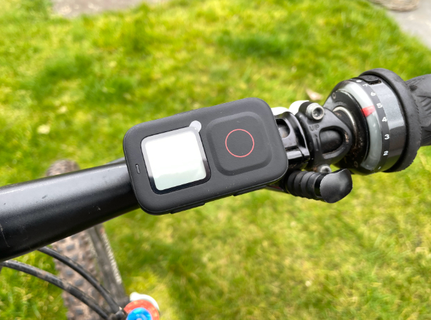 Horizontal handlebar mount for GoPro The Remote  in Black Natural Versatile Plastic