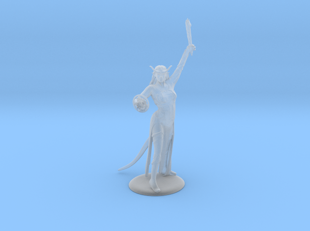 Tiefling Warlock Miniature in Smooth Fine Detail Plastic: 28mm