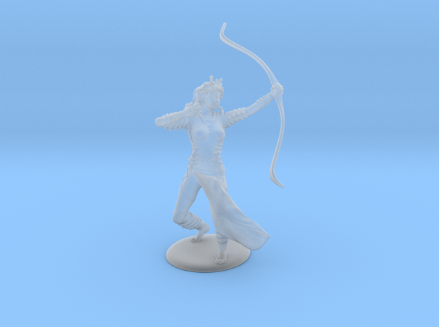 Drow Archer in Smooth Fine Detail Plastic: 28mm