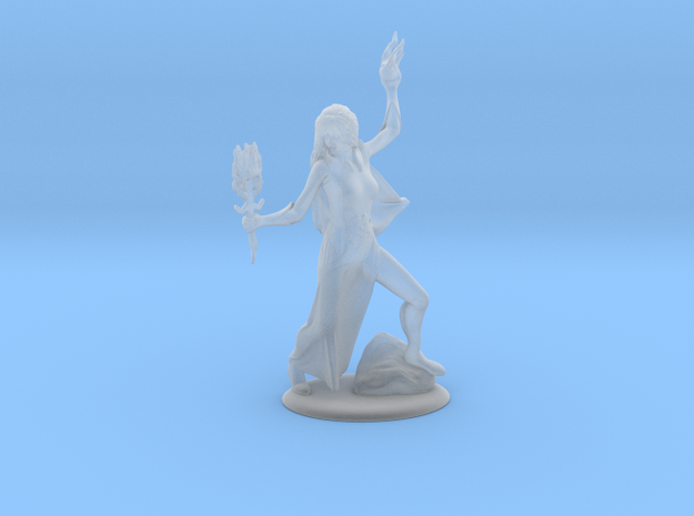 Basic Wizard Miniature in Smooth Fine Detail Plastic: 28mm