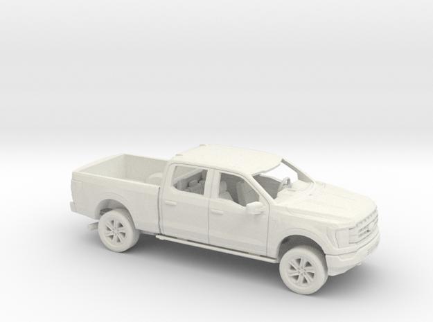 1/72 2021 Ford F-150 Crew cab Regular Bed Kit in White Natural Versatile Plastic