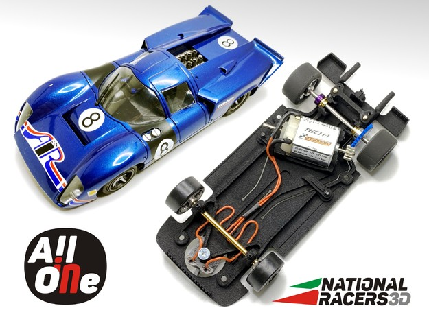Chassis for Fly Lola T70 (AiO-S_AW) in Black PA12