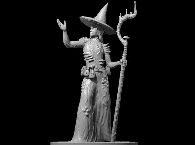 Female Elf Druid Spore Circle 2 in Smooth Fine Detail Plastic