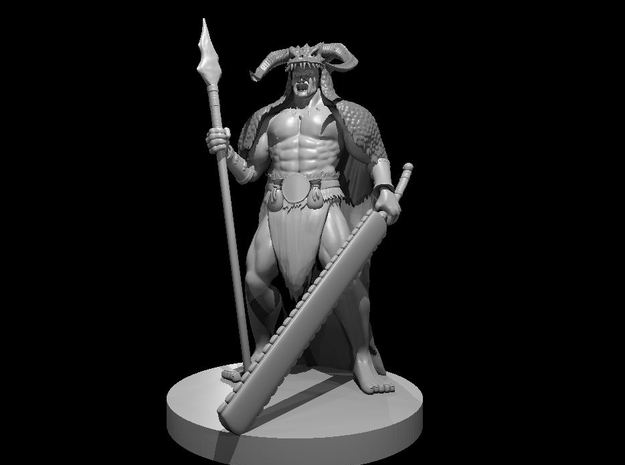 Human Male Barbarian 6 in Smooth Fine Detail Plastic