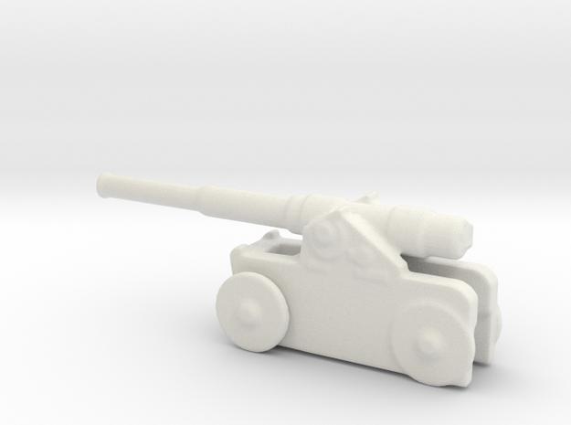 Italian 254mm cannon 1/144  in White Natural Versatile Plastic