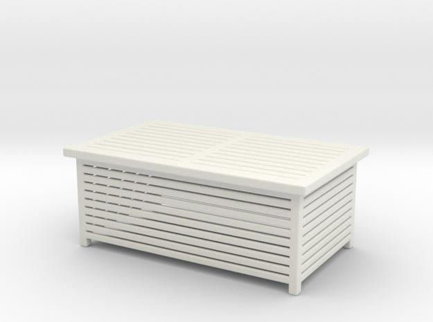 Miniature Garden Table in White Natural Versatile Plastic