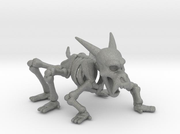 Skeleton Beast miniature model fantasy games dnd in Gray PA12
