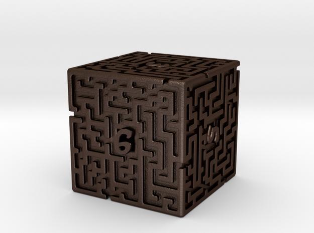 6 Sided Maze Die 3d printed