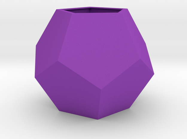 gmtrx 100 mm lawal basic dodecahedron shell  in Purple Processed Versatile Plastic