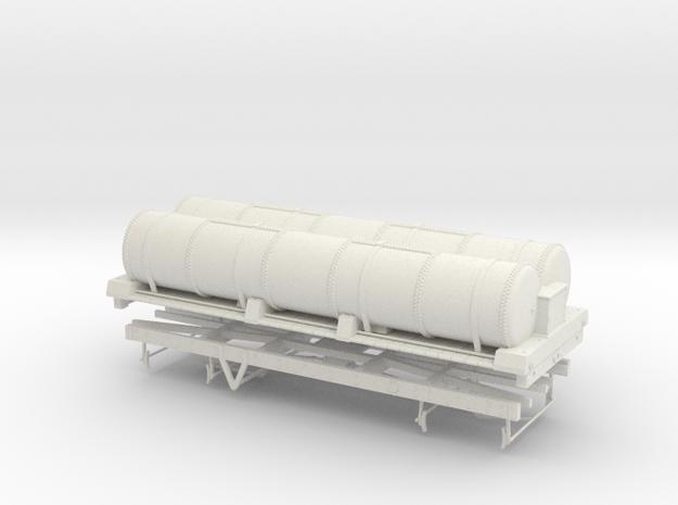 O Scale LBSCR 6/w Gas Tank Wagon in White Natural Versatile Plastic