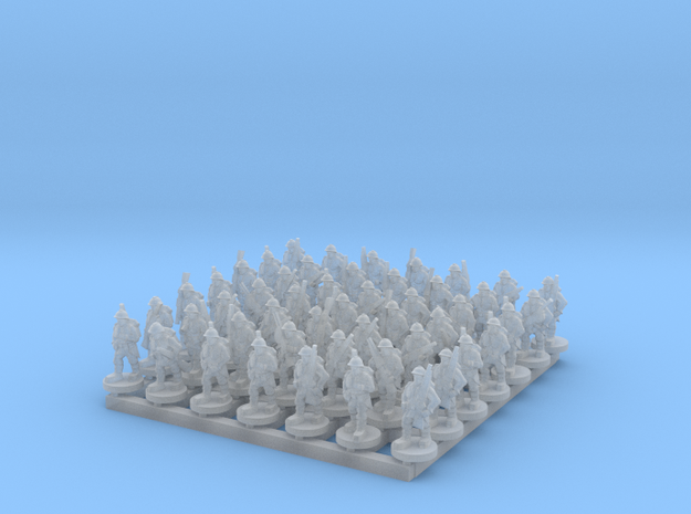 10mm WW1 French infantry marching in Smooth Fine Detail Plastic