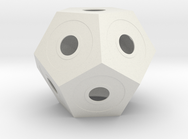 gmtrx 135 mm lawal dodecahedron lampshade in White Natural Versatile Plastic