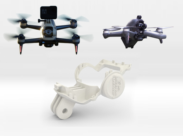 DJi FPV Front Mount (Top only) in White Natural Versatile Plastic
