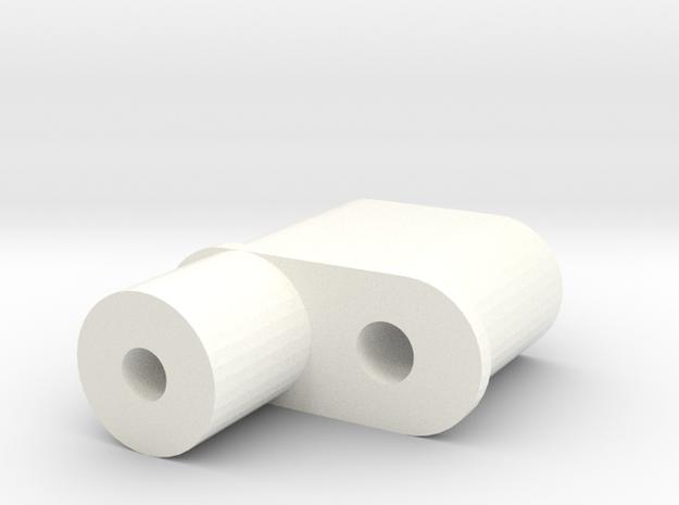 RC10 ANTENNA MOUNT in White Processed Versatile Plastic