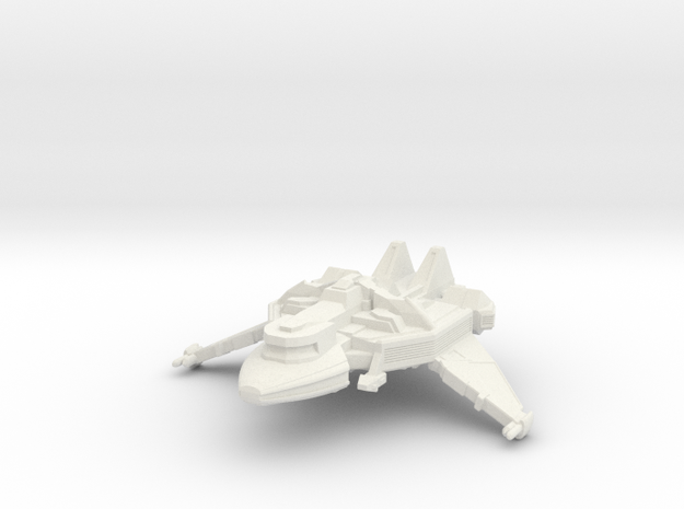 1/1000 Scale Hu-Day Class Transport in White Natural Versatile Plastic