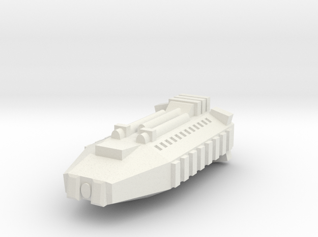 Earther Combat Shuttle in White Natural Versatile Plastic