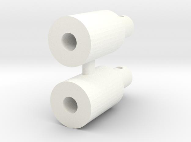 RC10 BODY MOUNT SET in White Processed Versatile Plastic