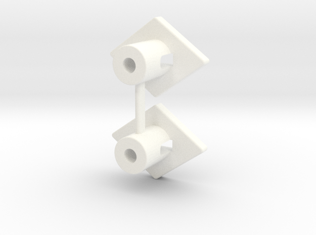 RC10 WING BUTTON SET in White Processed Versatile Plastic
