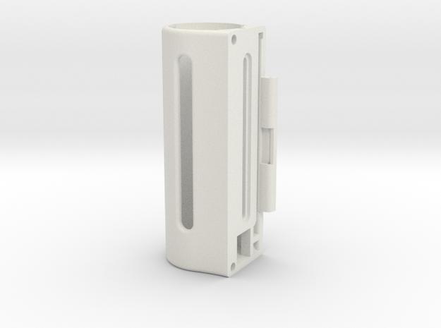 Tube23mm in White Natural Versatile Plastic