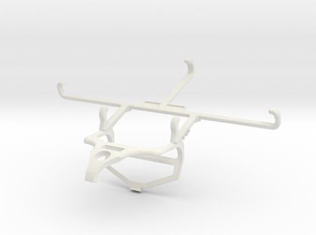Controller mount for PS4 & ZTE Blade 11 Prime - Fr in White Natural Versatile Plastic