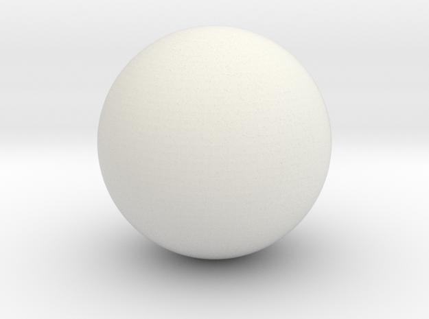 Hollow Sphere 4 cm diameter in White Natural Versatile Plastic