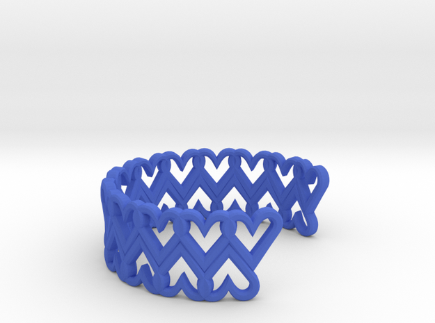 FLYHIGH: Open Heart Double Bracelet 3d printed
