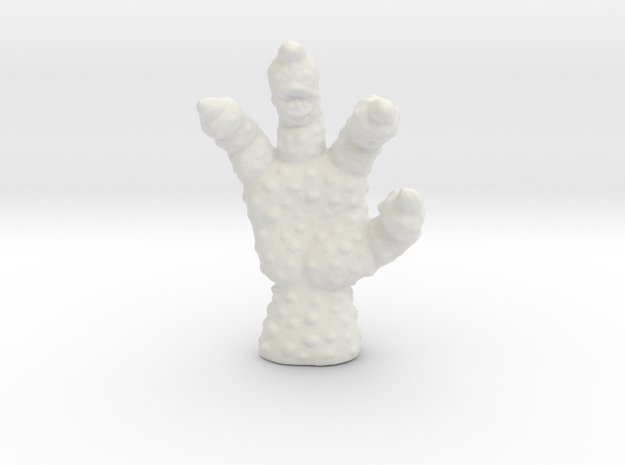 Evil Hand miniature model fantasy games rpg dnd in White Natural Versatile Plastic