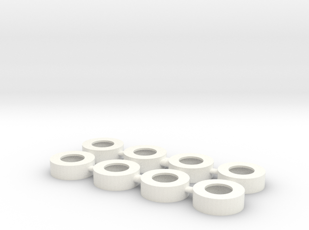 RC10 FRONT WHEEL ADAPTER BUSHING FOR TAMIYA WHEELS in White Processed Versatile Plastic