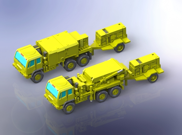 AN/TPQ-53 Radar (travelling) 1/160 in Smooth Fine Detail Plastic