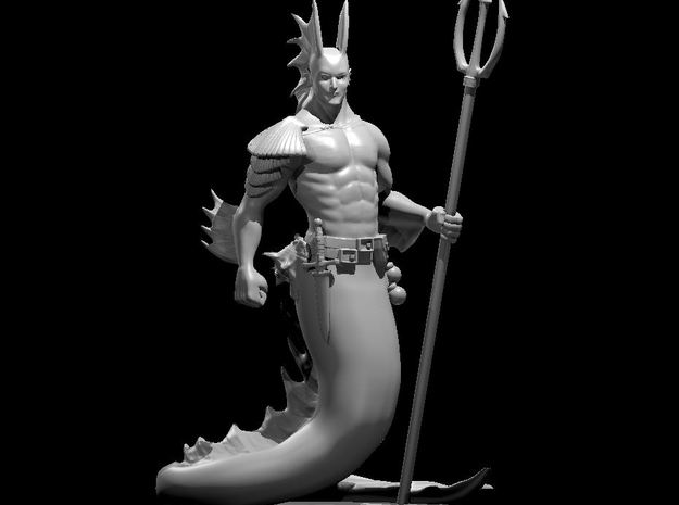 Merfolk Male in Smooth Fine Detail Plastic