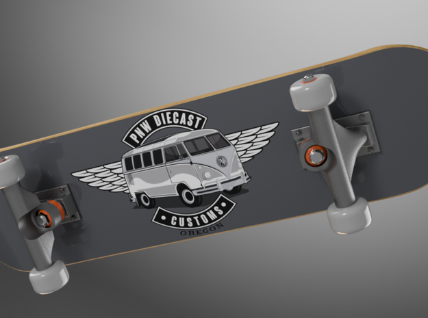 1/64 scale Skateboard Set of 6 in Smoothest Fine Detail Plastic