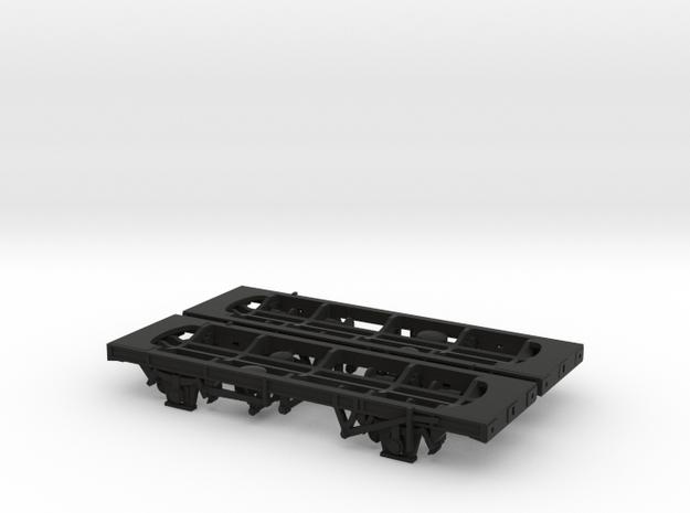 2x TT/3mm 45T TTA Tank Wagon Chassis in Black Natural Versatile Plastic