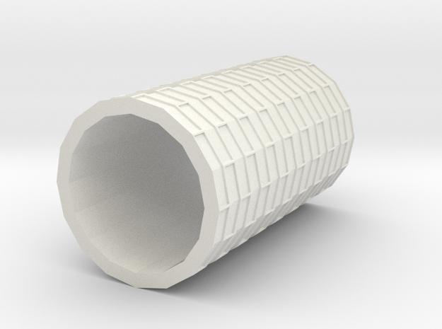Brick Roller in White Natural Versatile Plastic