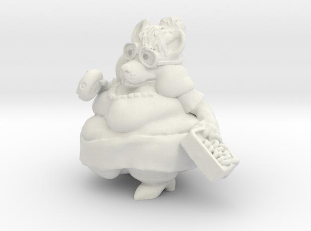Mousy Secretary Mini in White Natural Versatile Plastic