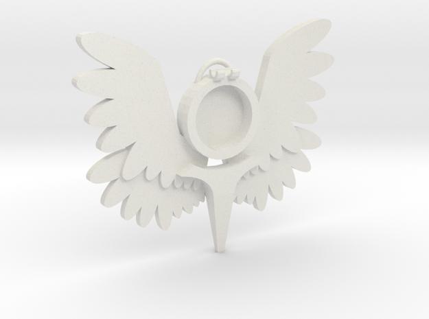 Smaller Winged Pendant m2 in White Natural Versatile Plastic