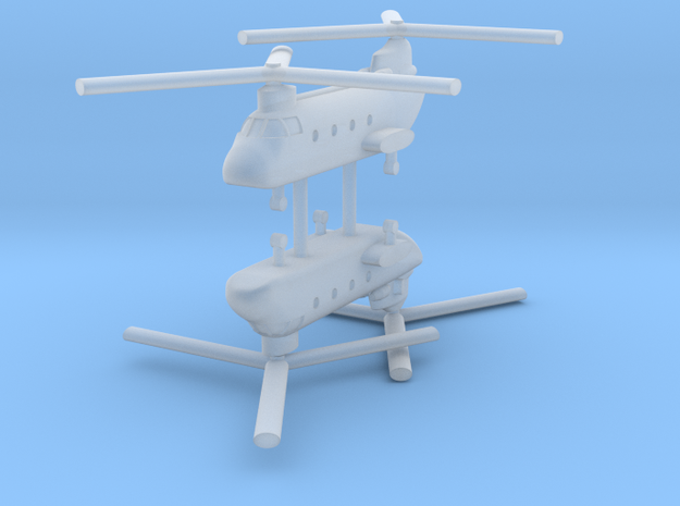 1/700 CH-46D Sea Knight (x2) in Smooth Fine Detail Plastic
