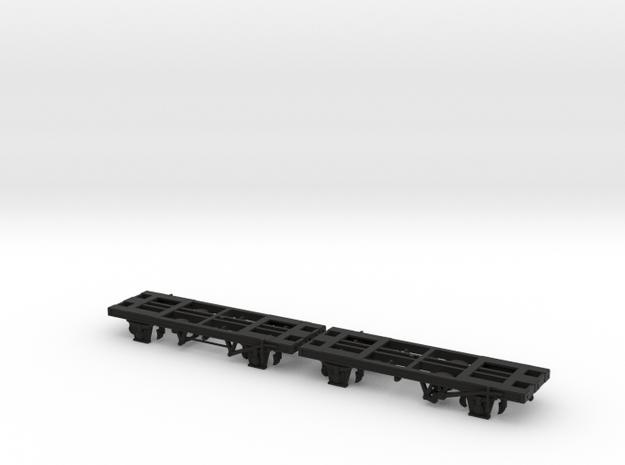 2x TT/3mm 35T Tank Wagon Chassis in Black Natural Versatile Plastic