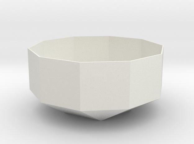 lawal 97 mm elongated pentagonal cupola in White Natural Versatile Plastic