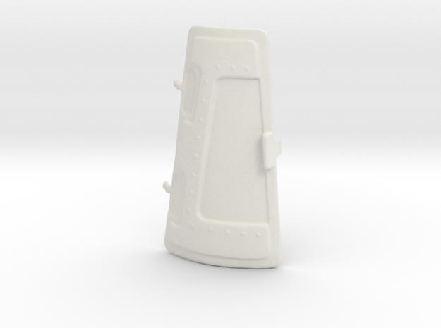 Turret Door in White Natural Versatile Plastic