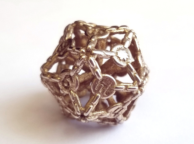 D20 Balanced - Chains in Polished Bronzed-Silver Steel