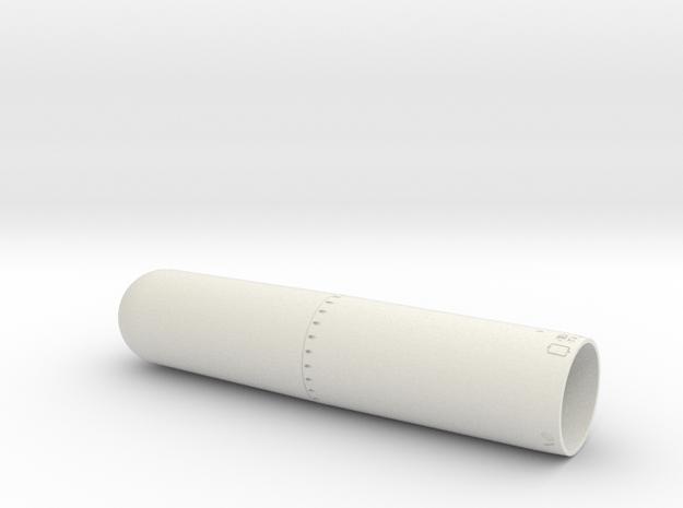 MK13-1 Torpedo Front 12th v2 in White Natural Versatile Plastic