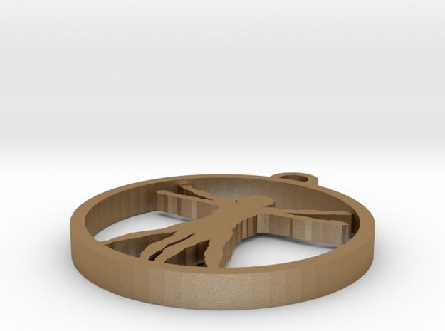 Da Vinci X Man Pendant 3d printed