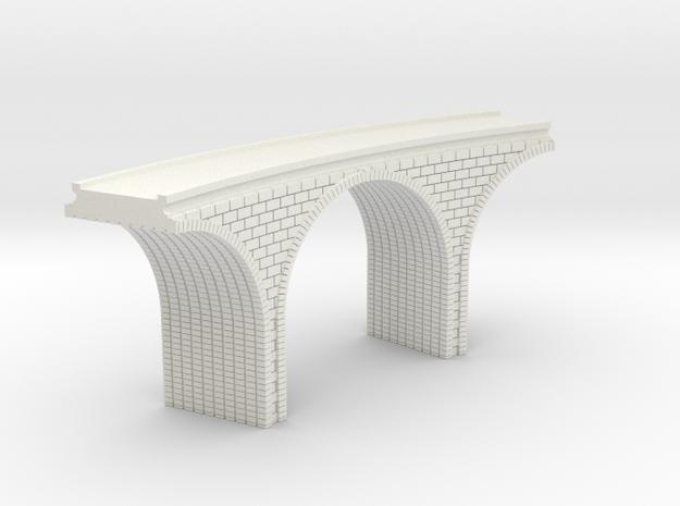 N Scale Arch Bridge Curved Single 1:160 Scale in White Natural Versatile Plastic