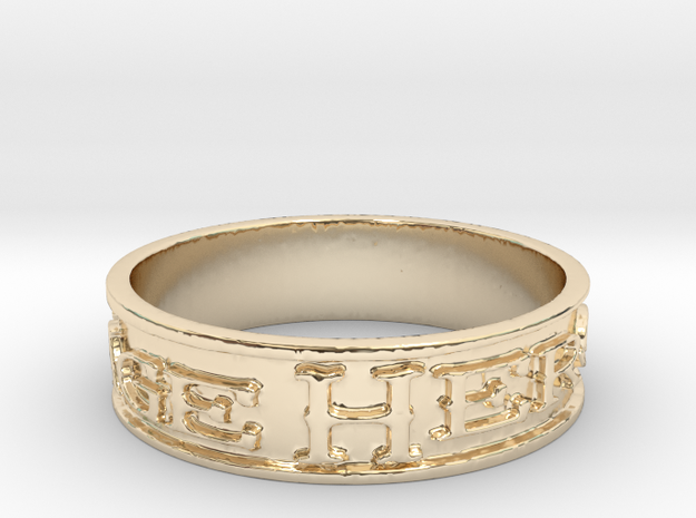 Heritage Heroes (Size 7.75) in 14K Yellow Gold