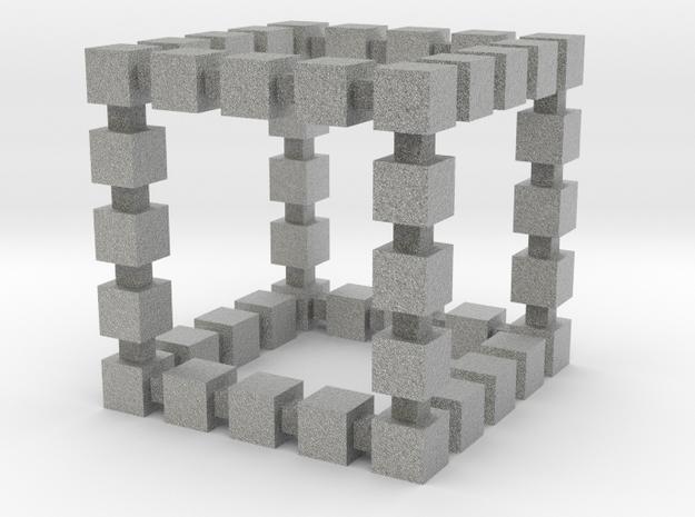 Blocky Cube 3d printed