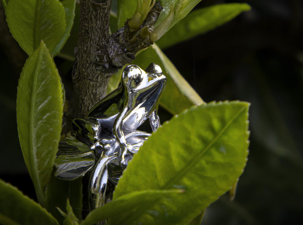 Frog Ring in Rhodium Plated Brass