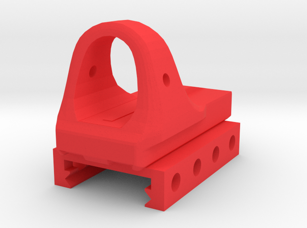 Renetti Micro Sight for Picatinny Rail in Red Processed Versatile Plastic