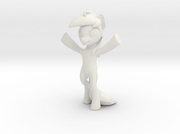 Standing Pony 3d printed