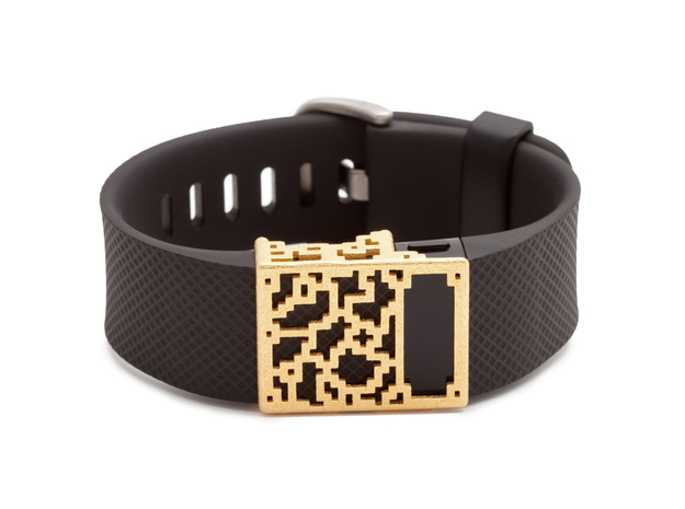 Steel Positive Charge slide for Fitbit Charge & HR in Polished Gold Steel
